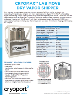 Cryomax Lab Move Dry Vapor Shipper